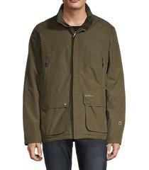 waterproof raglan-sleeve jacket