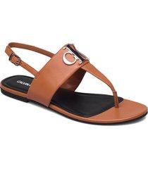 flat sandal hw lth shoes summer shoes flat sandals brun calvin klein