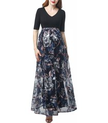 women's kimi and kai annabelle maternity dress, size large - none