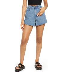 women's we wore what the boyfriend high waist cutoff shorts, size 31 - grey