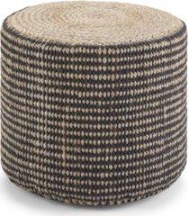 larissa round braided pouf