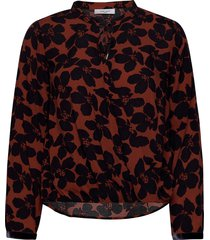 blouse long-sleeve blus långärmad brun gerry weber edition