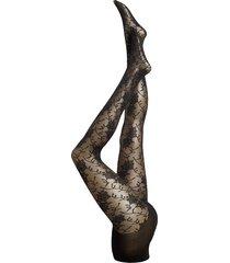decoy tights silver lace 25 de lingerie pantyhose & leggings svart decoy