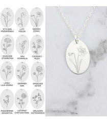 birth flower naszyjnik kwiaty twój miesiąc urodz
