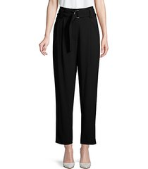 diego belted paperbag ankle pants