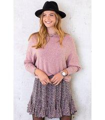 oversized soft trui oud roze