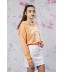 buzo hoodie naranja como quieres dylan
