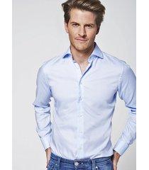 michaelis licht basket weave shirt blauw