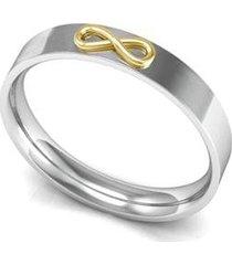 aliança de prata c/ infinito em ouro-16