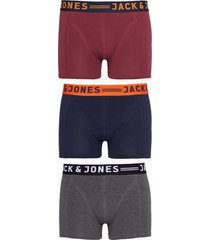 jack & jones jaclichfield trunks 3 pack noos boxershorts mörk lila