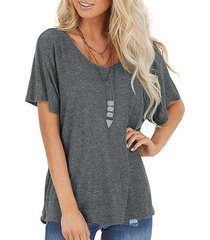 bar back twisted batwing sleeve t-shirt