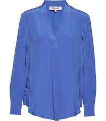 dvf sanorah blouse lange mouwen blauw diane von furstenberg