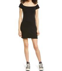 women's bp. convertible neck rib dress, size x-large - black