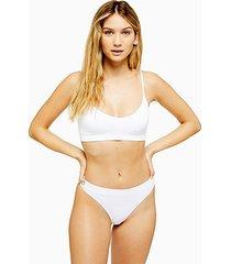white seamless thong - white