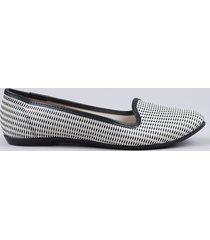 slipper feminino moleca listrado texturizado com lurex off white