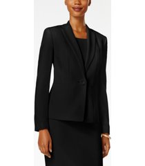 kasper petite one-button crepe blazer