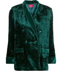 f.r.s for restless sleepers double breasted jacket - green