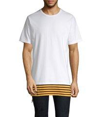 prps men's elongated short-sleeve tee - white - size xl