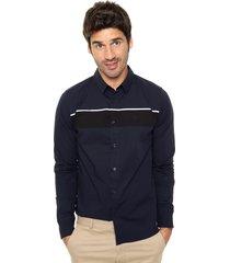 camisa negra calvin klein wens st shirt l/s