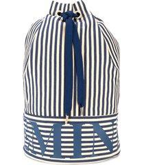 marlies dekkers beach striped duffle bag - blue