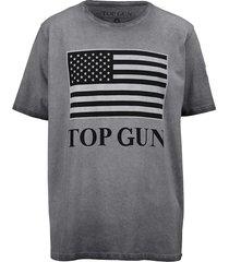 t-shirt top gun grijs::lichtgrijs::zwart