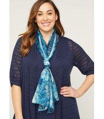 cobalt meadow scarf