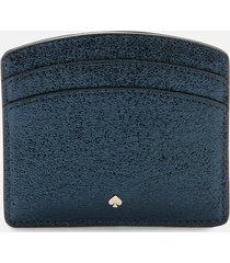 kate spade new york women's spencer metallic card holder - metallic night