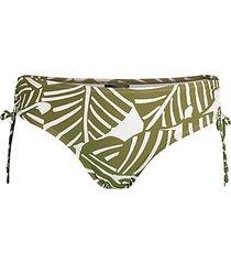 side-tie print bikini bottoms