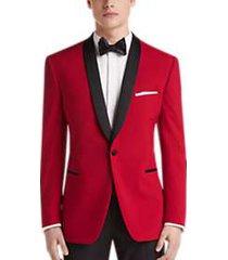 egara red slim fit dinner jacket