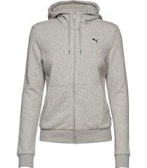 ess hooded jacket tr hoodie grå puma