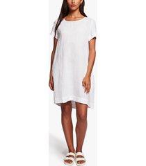 linen back pleat shift dress