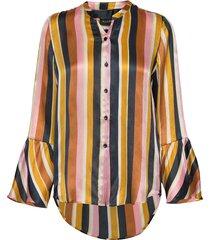 3371 - estelle cuff blouse lange mouwen multi/patroon sand