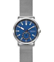 skagen men's colden stainless steel mesh bracelet watch 40mm