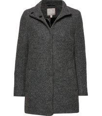 jacket outerwear heavy wollen jas lange jas grijs brandtex