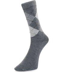 burlington preston grey argyle socks 24284 3980