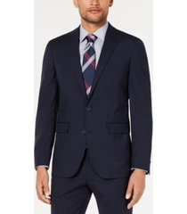 cole haan men's grand. os wearable technology slim-fit stretch grid suit jacket