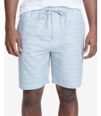 nautica men's windowpane plaid cotton pajama shorts