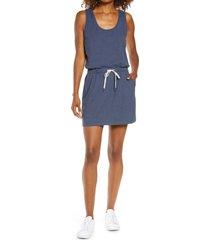 zella gwen ponte knit tank dress, size x-large in navy nightfall at nordstrom