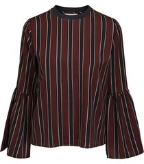tara ls top burgundy blouse
