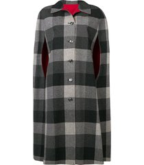 a.n.g.e.l.o. vintage cult 1970's reversible checked coat - grey
