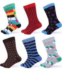 gallery seven men's funky colorful dress socks pack of 6