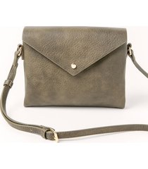 women's melanie envelope crossbody handbag in olive by francesca's - size: one size