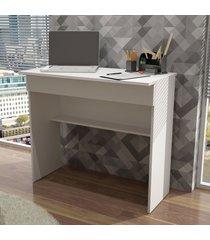 mesa escrivaninha 1 gaveta bho 21-06 branco fosco - brv móveis