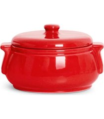 sopeira de ceramica pequena standard 1.28lt ac29 - vermelho - feminino - dafiti