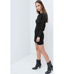 motivi vestito lurex con arricci donna nero