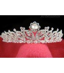 bridal tiara head band swarovski crystal special silver plated wedding crown c03