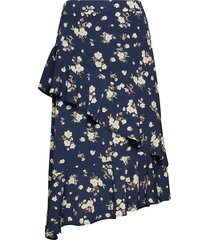 harriettecr skirt knälång kjol blå cream