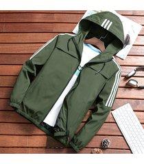 abrigos slim fit cremallera de moda para hombres,primavera otoño-verde