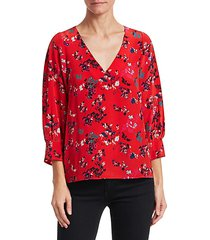 clio floral clusters silk top