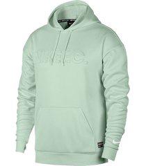 buzo con capucha de hombre m nk fc hoodie nike verde